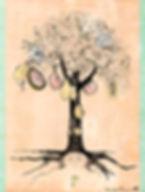 Uma árvore grávida pode sintetizar a potencialidade e conexão entre maternidade, agricultura e tempo cíclico.