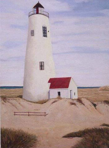 Great Point Lighthouse, Nantucket - Oil