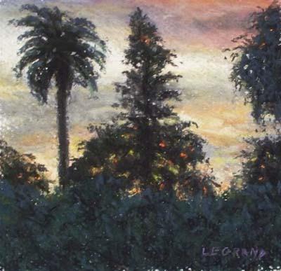 Miami Sunset - Pastel