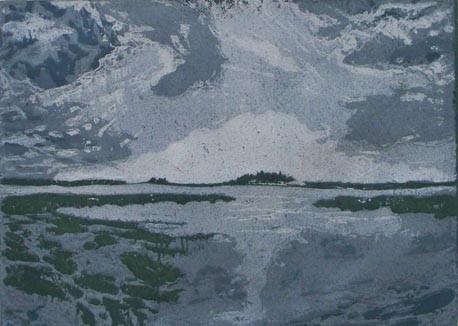 Barnswick Landscape - Linocut
