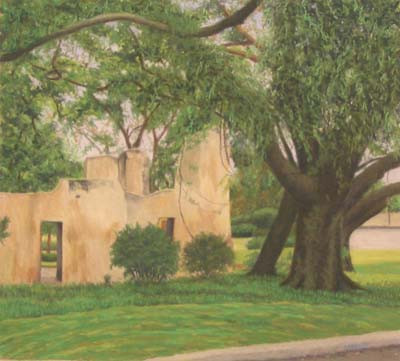 Ruins of Old Slave Hospital, St. Simons, Georgia - Pastel