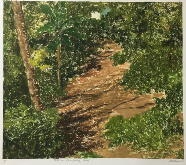 Path in Cavaillons, Haiti - Monotype