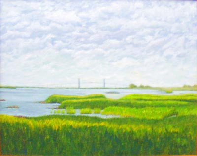 View of Sidney Lanier Bridge, Georgia - Oil