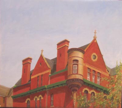 The Red House, Harlem, NYC - Oil