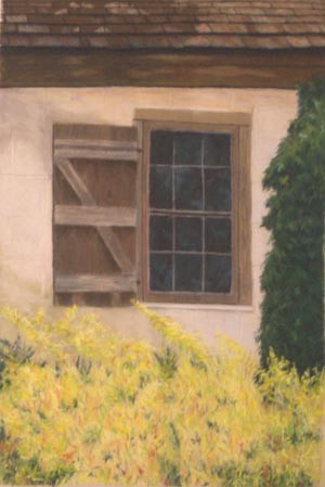 Old Slave House Window, St. Simons, Georgia - Pastel