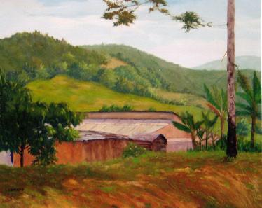 Fermatte Landscape, Haiti - Oil