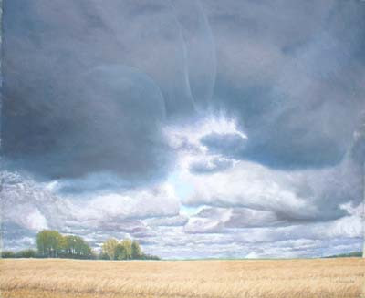 The Approaching Storm, Normandy, France - Pastel