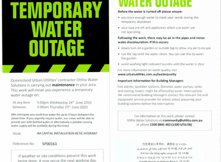 Cathedral Place - Temporary Water Outage