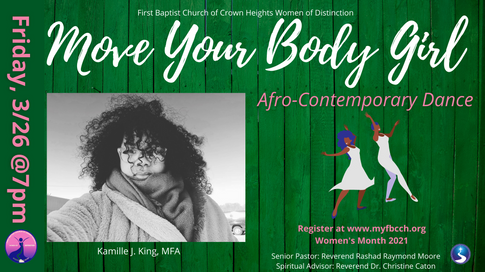 Move Your Body Girl: Afro-Contemporary Dance Class