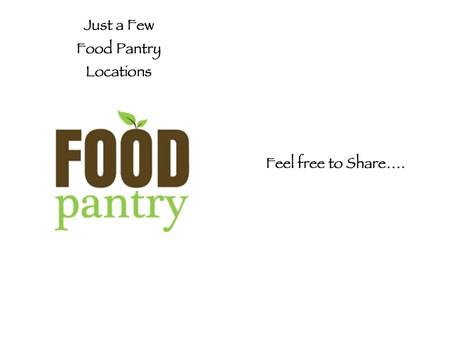 Local Food Distributions/pantries