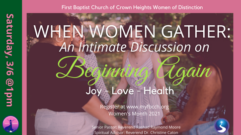 When Women Gather: An Intimate Discussion on Beginning Again