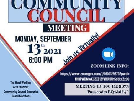 77th Precinct Community Council Meeting