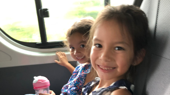 Riding in our bus!