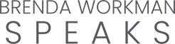 Brenda Workman Speaks text logo