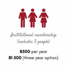 Membership fees institutional (3 people)