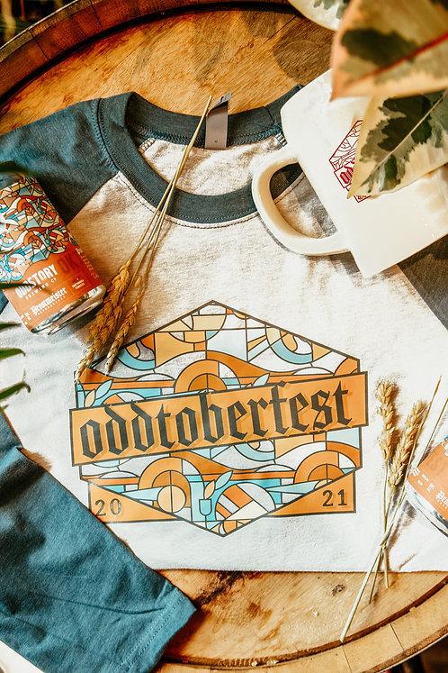 Oddtoberfest Presale Package 3: Stein + Fill +6pack+ Oddtoberfest Baseball Tee