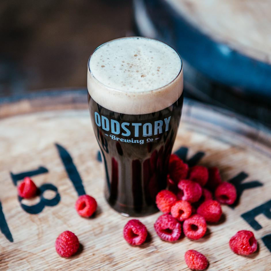 Black Ale With Raspberries