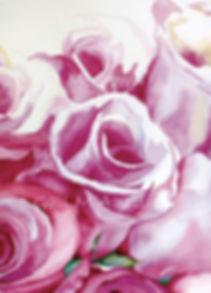 original art, pink roses, wall decor, Gail M Austin Art, watercolor flowers, wall decor, original art, large format art, rose art, roses art, flower watercolor, pink roses,  lay me down in a bed of roses, artworks, pink wall decor, big art, wall art