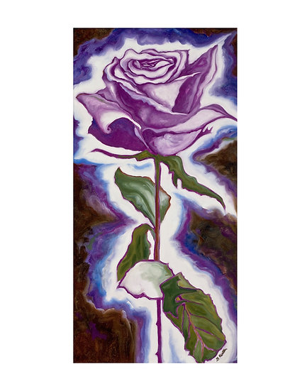 Rose of Transformation -original oil painting by Gail M Austin