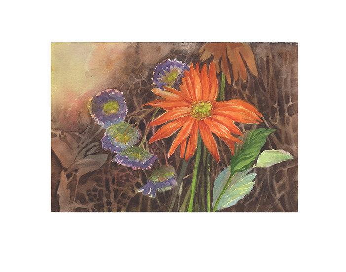 Original watercolor painting - framed art by award winning artist Gail M Austin