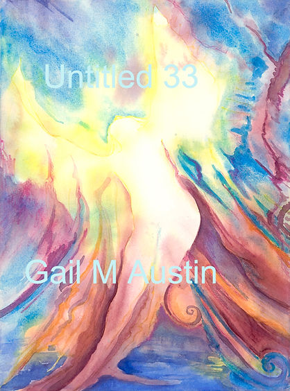 Watercolor on paper, Gail M Austin art, emotional art, woman coming out of the water, ethereal art, healing art, goddess art, angel art, inspirational art, oracle cards, oracle art, divine feminine art,  unconditional love, Christ conscious art