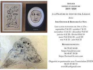 Les Ateliers Peinture et Dessin pour l'année 2019/2020