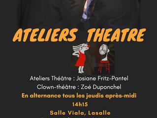 Les Ateliers Théâtre et Clown-Théâtre reprennent!