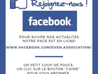 Rejoignez nous sur facebook!