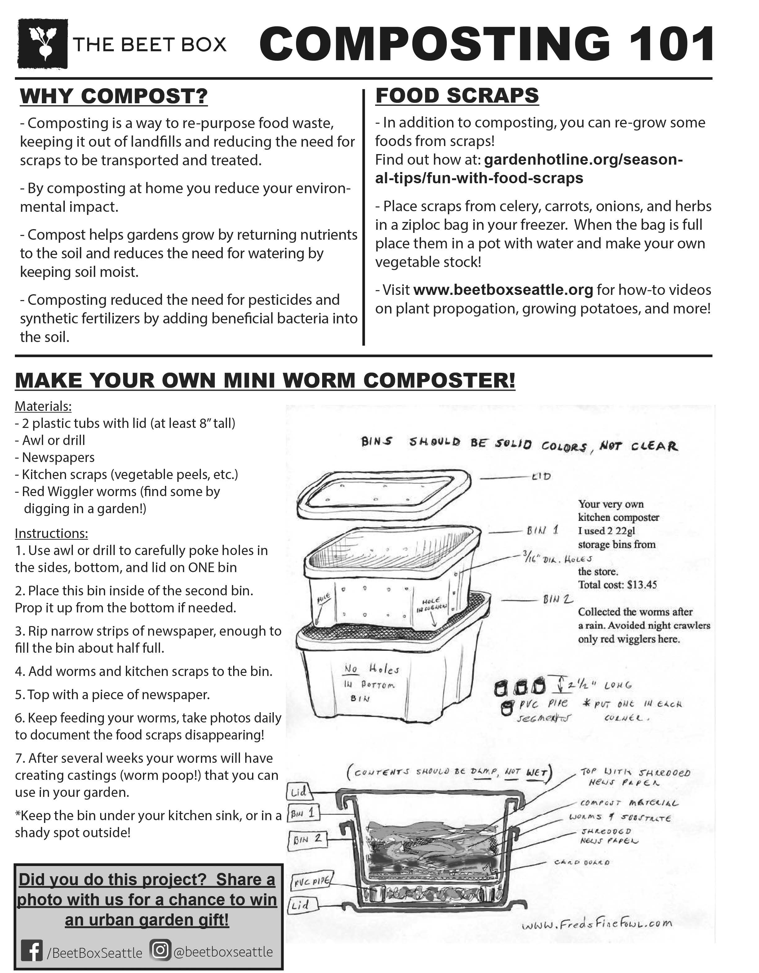 DIY Worm Composting