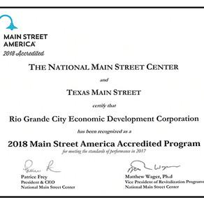 Rio Grande City Main Street Receives 2018 National Main Street Accreditation