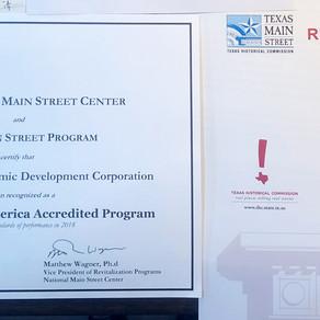 Rio Grande City Main Street Receives 2019 National Main Street Accreditation