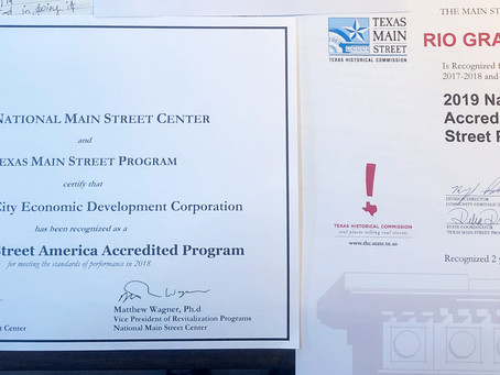 Rio Grande City Main Street Receives 2019 National Main Street Accreditation