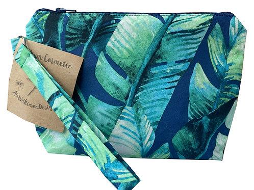 Cosmetic Bag - Medium -Tropical Palms