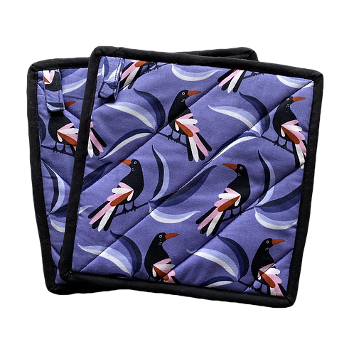 Oven Mitts (Pair) - Magpie