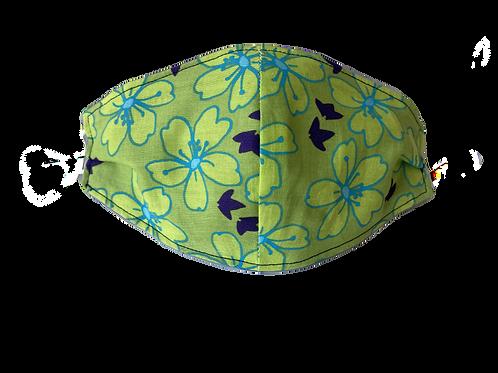 Face Mask - Tropical Green, Aqua and Purple