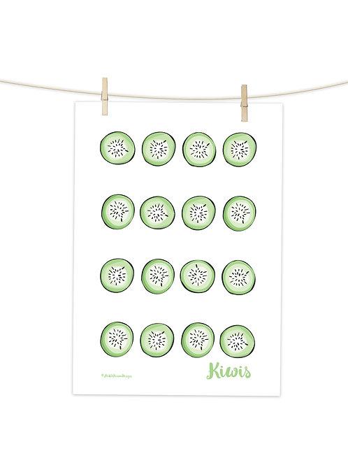 Kiwis - Tea Towel (Placement Print)