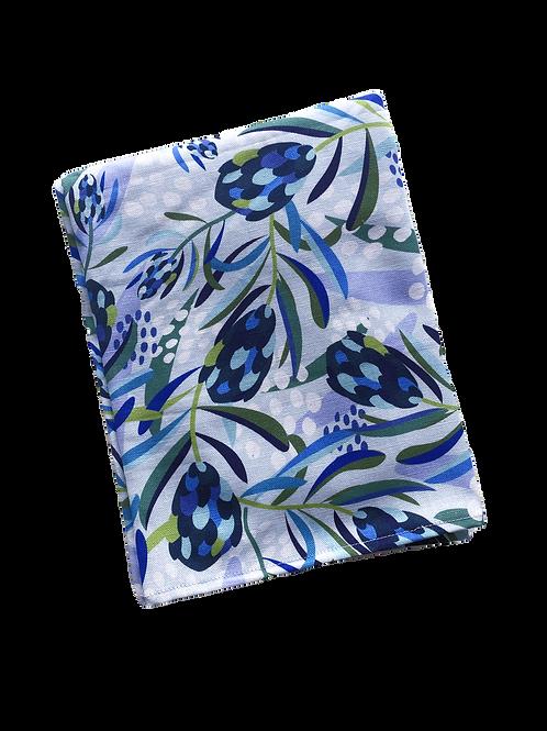 Tea Towel - Waratah Blue