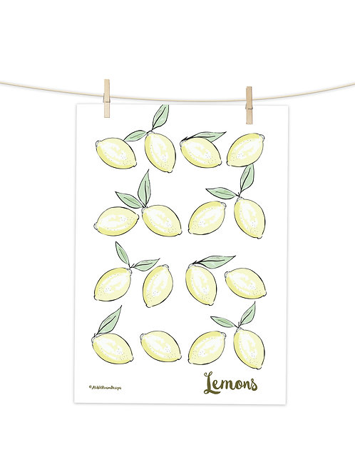 Lemons- Tea Towel (Placement Print)