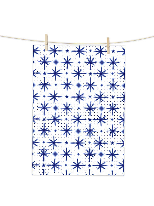 Shibori Stars- Tea Towel (Placement Print)