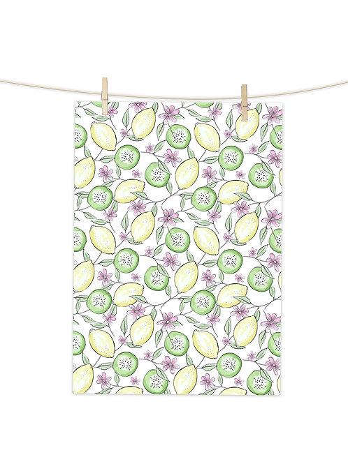 Lemons & Kiwi Fruits - Tea Towel