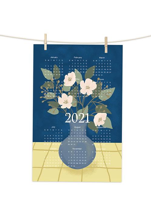 2021 Vase of Flowers - Tea Towel (Placement Print)