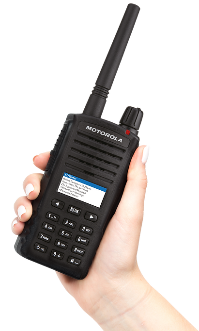 Motorola two way radio walkie talkie using MyPorter porter task management solution system