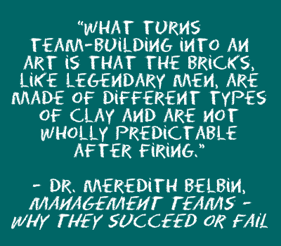 Belbin quote about bricks and clay