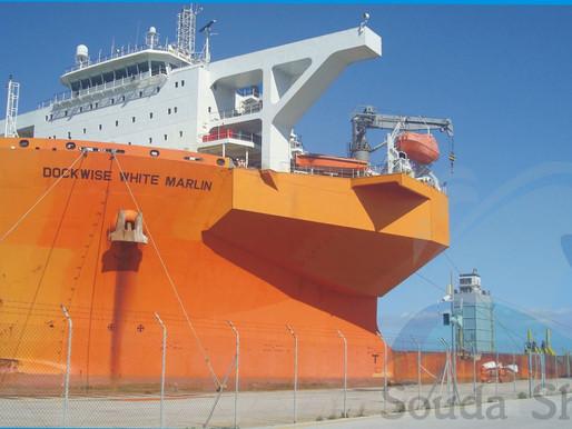 Στο λιμάνι της Σούδας το μεγαθήριο DOCKWISE WHITE MARLIN