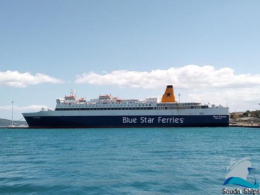Επιστροφή του πλοίου Blue Galaxy στο λιμάνι της Σούδας.