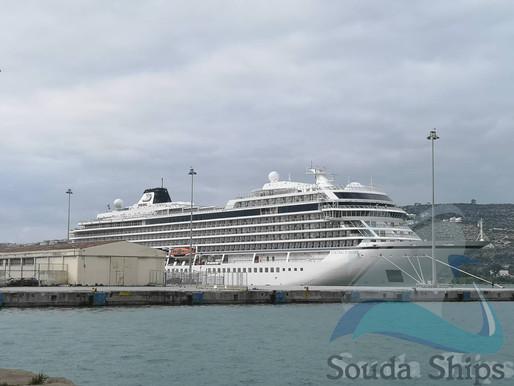 Στο λιμάνι της Σούδας το πολυτελές «Viking Jupiter»