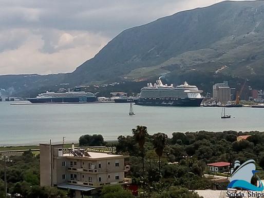 Δύο κρουαζιερόπλοια με χιλιάδες επισκέπτες έδεσαν το πρωί στο λιμάνι της Σούδας