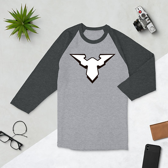 The Angel Logo Unisex 3/4 sleeve raglan shirt