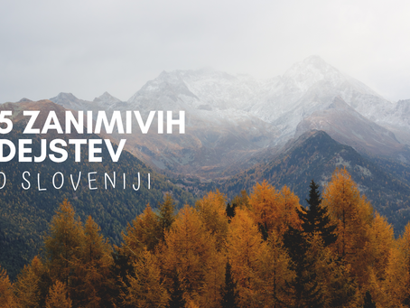 5 zanimivih dejstev o Sloveniji