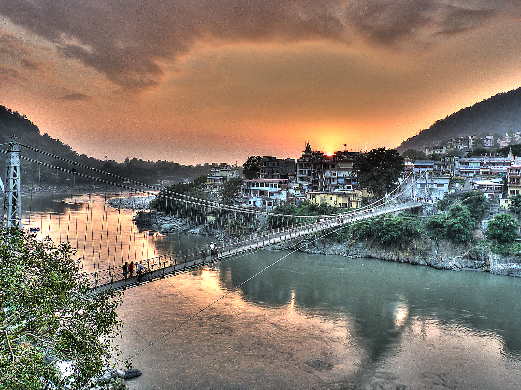 Rishikesh at Sunset